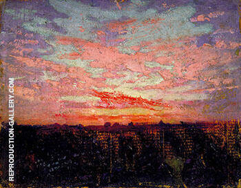 Reproduction of Sunset 1905-09 by Abbott H Thayer | Oil Painting Replica On CanvasReproduction Gallery