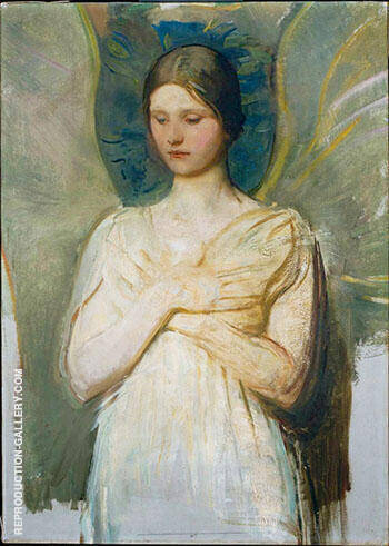 The Angel 1903 Painting By Abbott H Thayer - Reproduction Gallery