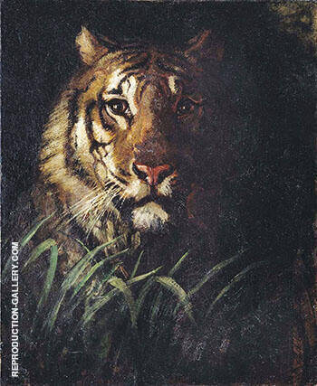 Tiger's Head 1874 By Abbott H Thayer