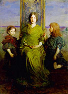 Virgin Enthroned 1891 By Abbott H Thayer