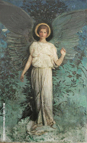 Winged Figure 1918 By Abbott H Thayer - Oil Paintings & Art Reproductions - Reproduction Gallery