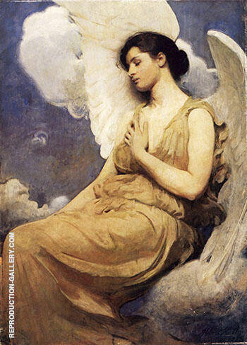 Winged Figure Painting By Abbott H Thayer - Reproduction Gallery