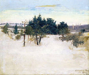 Winter Landscape 1902 By Abbott H Thayer