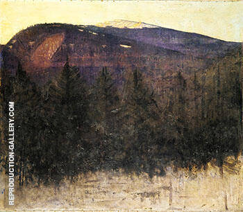 Winter Sunrise Monadnock 1917 By Abbott H Thayer - Oil Paintings & Art Reproductions - Reproduction Gallery