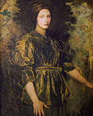Woman in Green Velvet 1918 By Abbott H Thayer