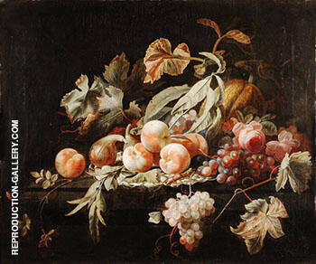 Attributed to Still Life with Fruits By Abraham Mignon