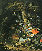 Flowers Animals and Insects By Abraham Mignon