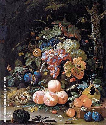Still Life 1660s By Abraham Mignon