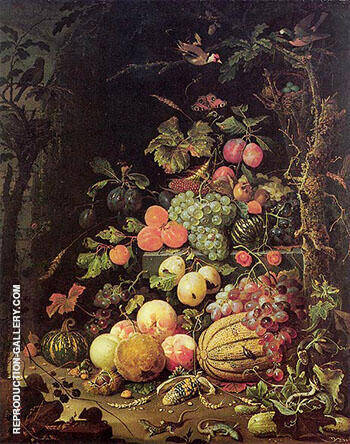 Still Life after 1672 By Abraham Mignon