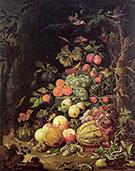 Still Life after 1672 By Abraham Mignon