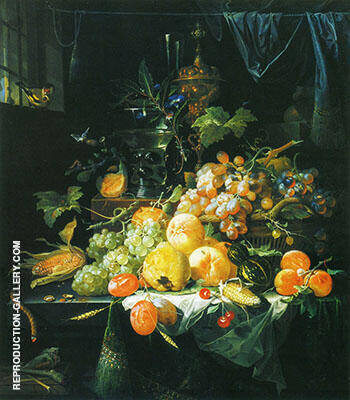 Still Life in the Interior By Abraham Mignon