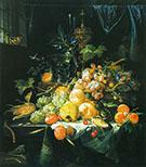 Still Life in the Interior By Abraham Mignon