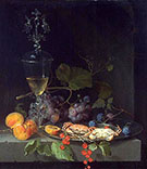 Still Life with Crabs on a Pewter Plate c 1669-72 By Abraham Mignon