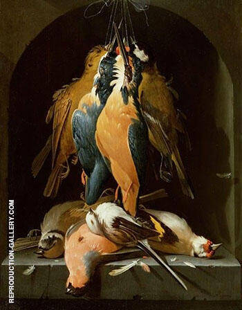 Still Life of Birds Painting By Abraham Mignon - Reproduction Gallery