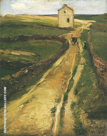 Landscape near Le Pouldu France c 1900 By Alson Skinner Clark - Oil Paintings & Art Reproductions - Reproduction Gallery