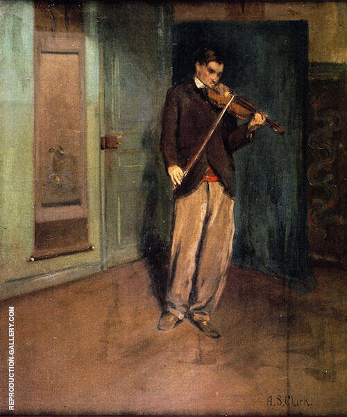 Reproduction of The Violinist c 1901 by Alson Skinner Clark | Oil Painting Replica On CanvasReproduction Gallery