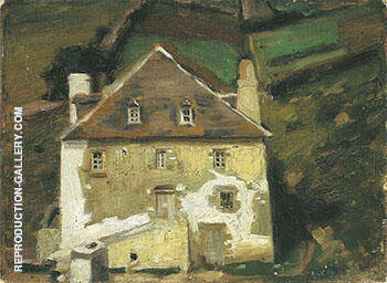 A Breton Homestead c 1903 By Alson Skinner Clark - Oil Paintings & Art Reproductions - Reproduction Gallery