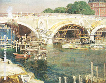 The Bridge Builders 1904 By Alson Skinner Clark