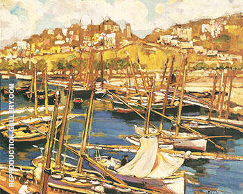 The Forest of Masts Genoa 1904 By Alson Skinner Clark - Oil Paintings & Art Reproductions - Reproduction Gallery