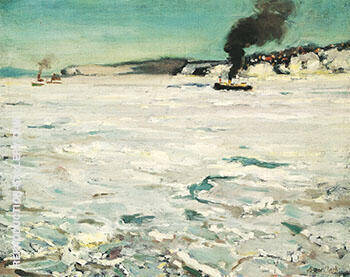 Winter Canada c 1906 By Alson Skinner Clark - Oil Paintings & Art Reproductions - Reproduction Gallery