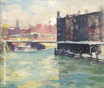 Reproduction of State Street Bridge Along the Chicago River c 1906 by Alson Skinner Clark | Oil Painting Replica On CanvasReproduction Gallery