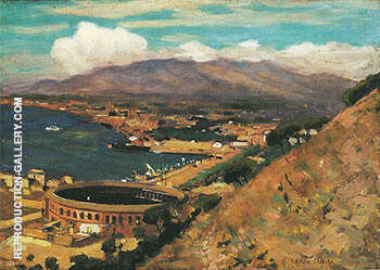 Reproduction of The Rising Sun Malaga c 1909 by Alson Skinner Clark | Oil Painting Replica On CanvasReproduction Gallery