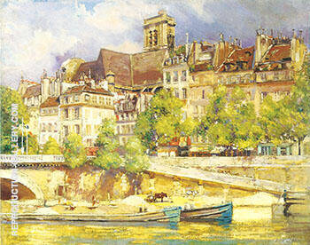 Saint Gervais c 1909 By Alson Skinner Clark - Oil Paintings & Art Reproductions - Reproduction Gallery