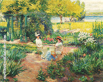 Reproduction of In the Garden 1910 by Alson Skinner Clark | Oil Painting Replica On CanvasReproduction Gallery