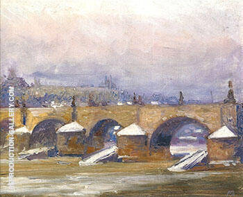 Charles Bridge Prague 1912 By Alson Skinner Clark - Oil Paintings & Art Reproductions - Reproduction Gallery