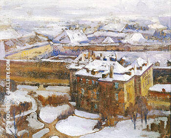 Over the City Prague 1912 By Alson Skinner Clark - Oil Paintings & Art Reproductions - Reproduction Gallery