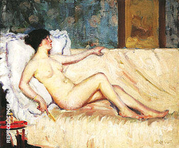 Reproduction of Reclining Nude 1912 by Alson Skinner Clark | Oil Painting Replica On CanvasReproduction Gallery