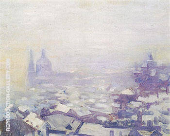 Snow over Prague 1912 By Alson Skinner Clark - Oil Paintings & Art Reproductions - Reproduction Gallery