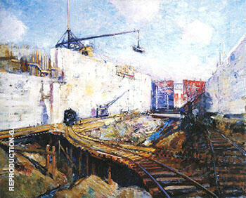 In the Lock 1913 By Alson Skinner Clark
