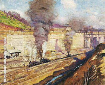 Work at Miraflores c 1913 By Alson Skinner Clark - Oil Paintings & Art Reproductions - Reproduction Gallery