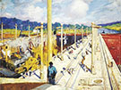 First Dredges through the Gatun Locks 1914 By Alson Skinner Clark