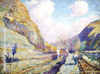 In the Cut Contractors Hill c 1914 By Alson Skinner Clark