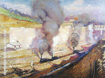 In the Lock Miraflores c 1914 Painting By Alson Skinner Clark
