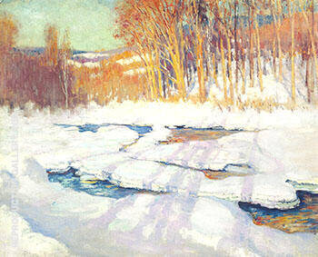 Frozen River Jackson New Hampshire c 1916 By Alson Skinner Clark - Oil Paintings & Art Reproductions - Reproduction Gallery