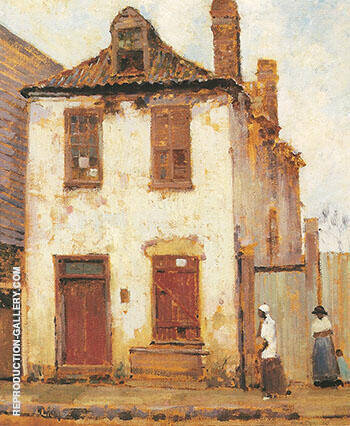 Catfish Row South Carolina c 1917 By Alson Skinner Clark - Oil Paintings & Art Reproductions - Reproduction Gallery