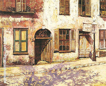Catfish Row Cabbage Row c 1917 By Alson Skinner Clark Replica Paintings on Canvas - Reproduction Gallery