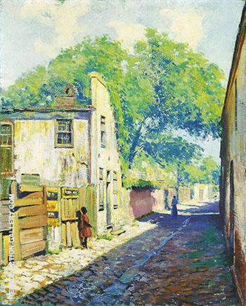 Reproduction of Charleston House St Michael's Alley c 1917 by Alson Skinner Clark | Oil Painting Replica On CanvasReproduction Gallery