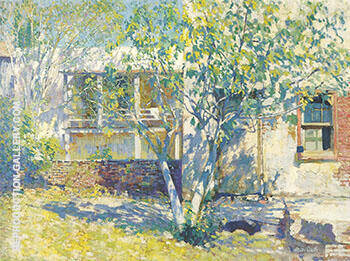 Miss Mattew's Kitchen c 1917 By Alson Skinner Clark - Oil Paintings & Art Reproductions - Reproduction Gallery