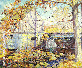 Mill Old Lyme c 1919 By Alson Skinner Clark Replica Paintings on Canvas - Reproduction Gallery