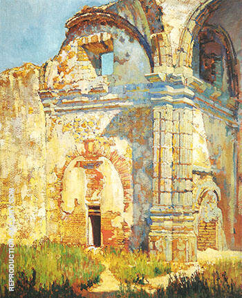 Reproduction of Ruins of San Juan Capistrano c 1919 by Alson Skinner Clark | Oil Painting Replica On CanvasReproduction Gallery