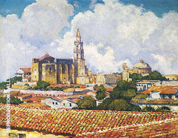 After the Shower Cuernavaca 1923 By Alson Skinner Clark - Oil Paintings & Art Reproductions - Reproduction Gallery