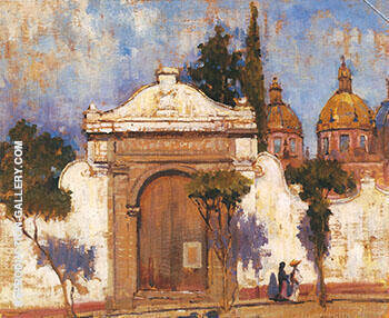 Carmen Gate San Angel No 2 1923 Painting By Alson Skinner Clark
