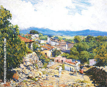 Road to Cortes Cuernavaca 1923 By Alson Skinner Clark Replica Paintings on Canvas - Reproduction Gallery