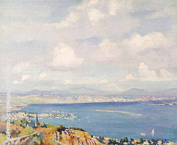 San Diego Bay c 1925 By Alson Skinner Clark - Oil Paintings & Art Reproductions - Reproduction Gallery