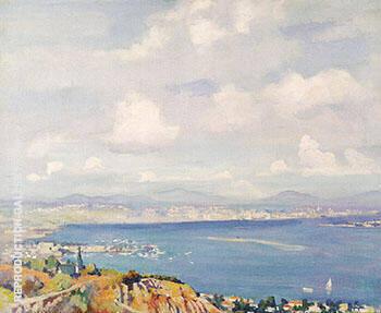 San Diego Bay c 1925 By Alson Skinner Clark