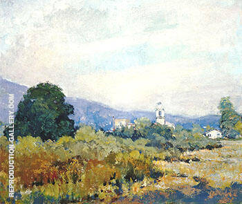 Monterey Park c 1925-28 By Alson Skinner Clark Replica Paintings on Canvas - Reproduction Gallery